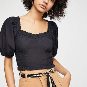 Free People Reaching for the Sun Crop Top